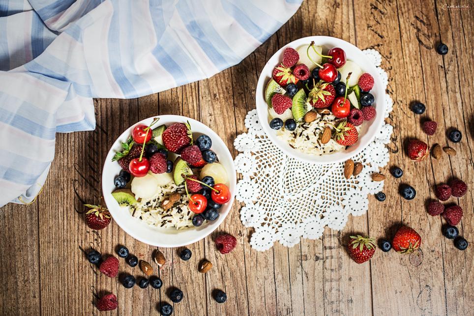 Wildreis Früchtesalat