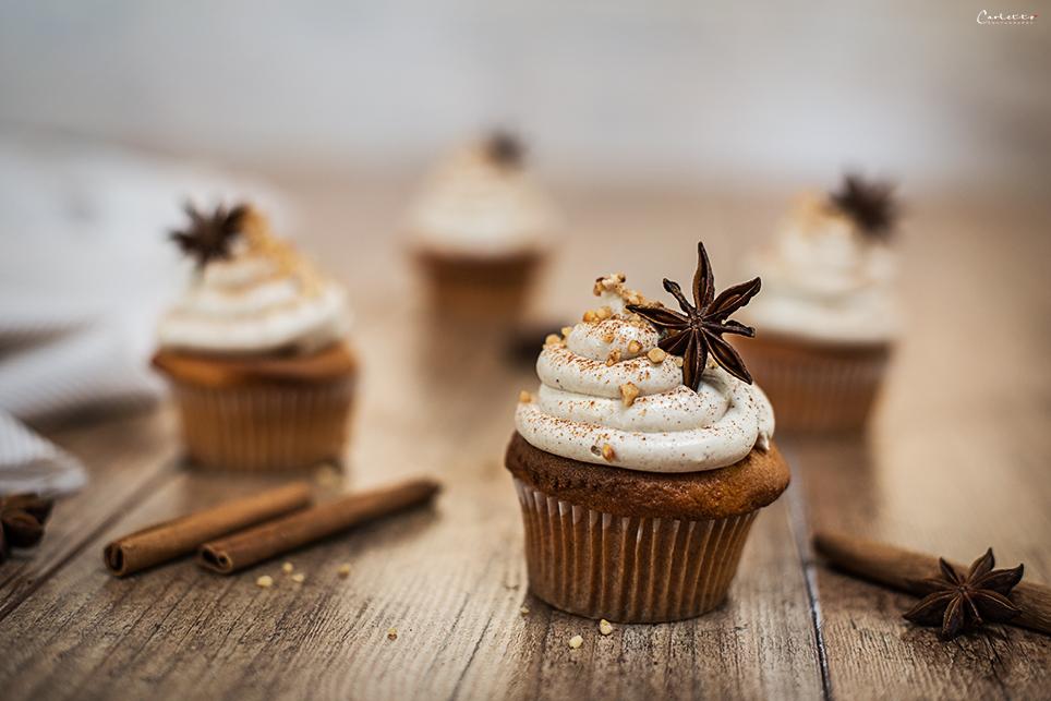 Das ist ein Rezept für herbstliche und süße Chai Cupcakes