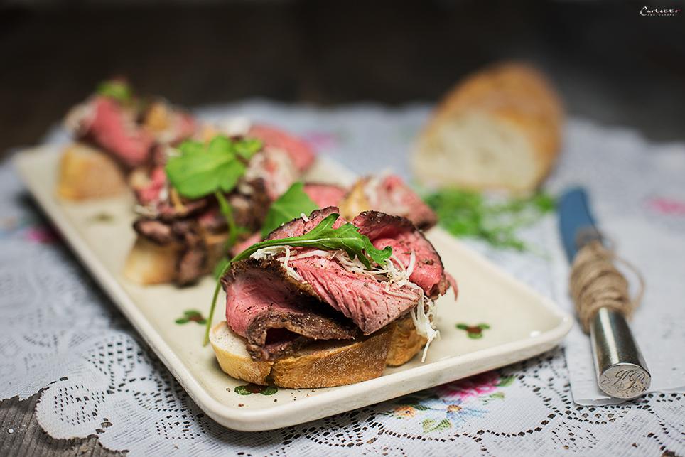 rezept f r roast beef sandwiches. Black Bedroom Furniture Sets. Home Design Ideas