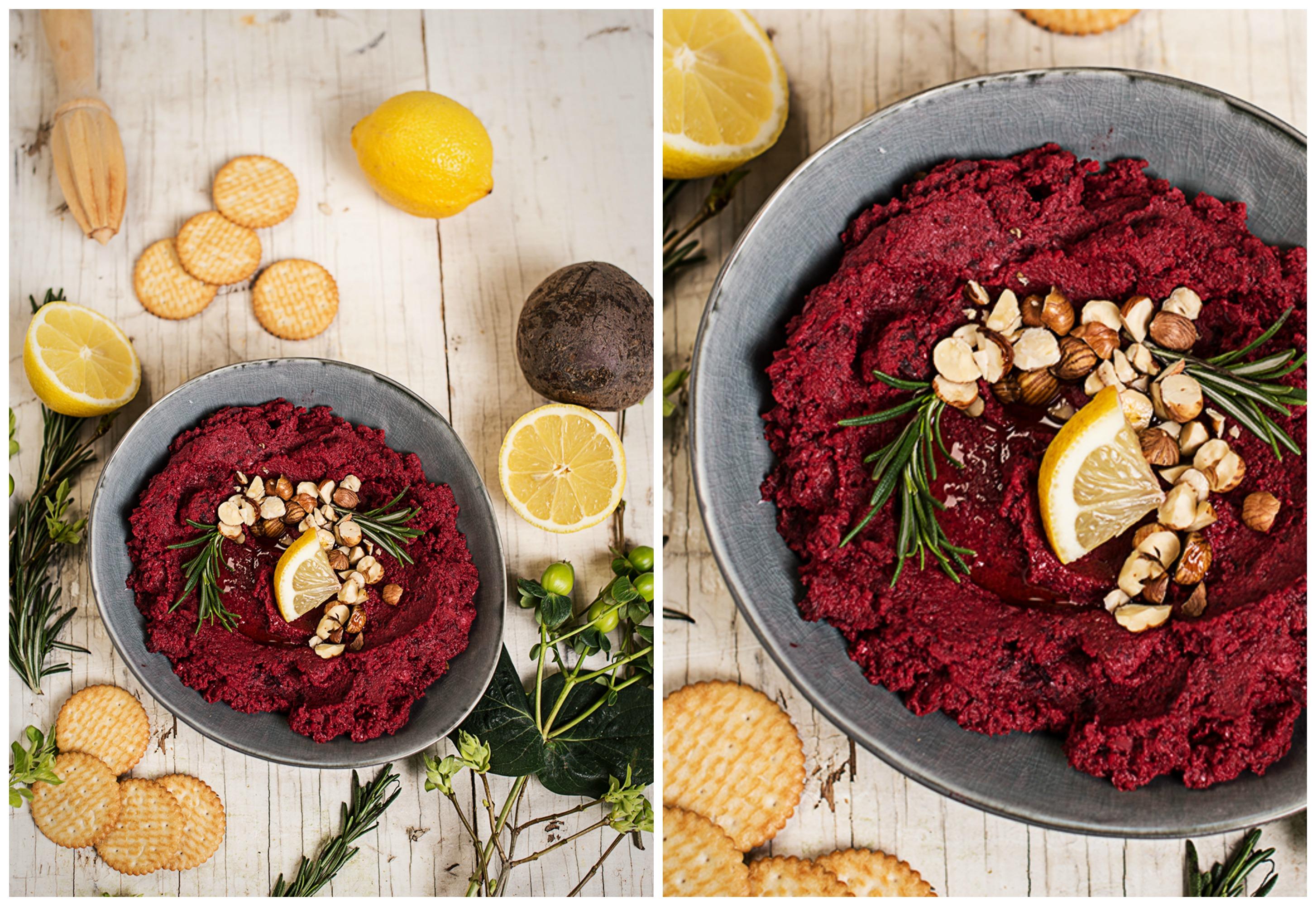 Rezept Rote Rüben Kichererbsen Hummus Von Cookingcatrin