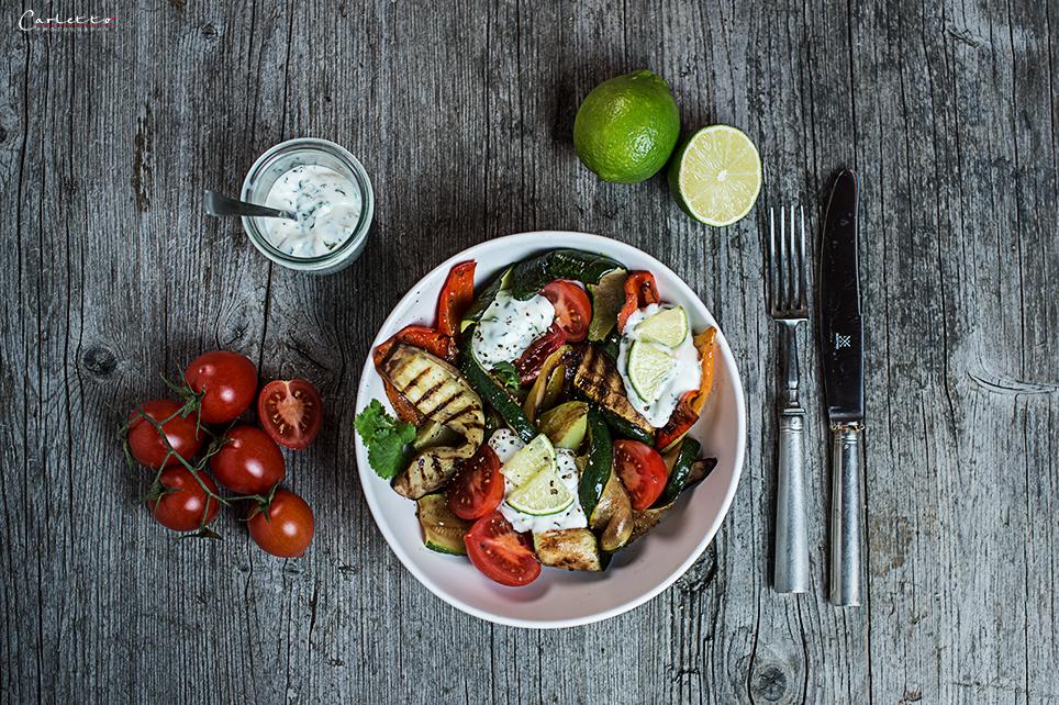 Gegrillter Gemüse Salat Mit Schlanker Mayonnaise Vinaigrette