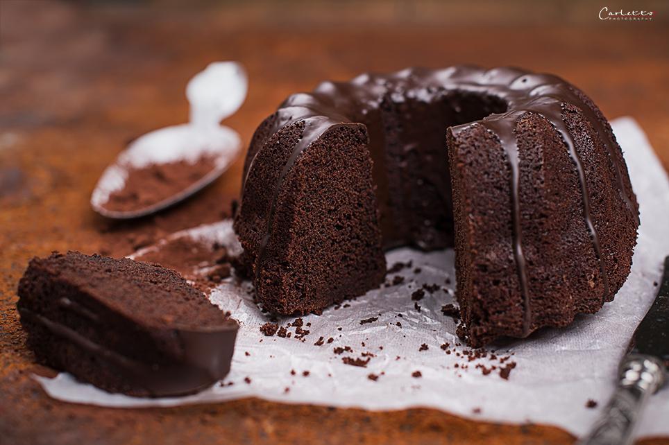 Schoko Bier Kuchen mit Schokoladenglasur