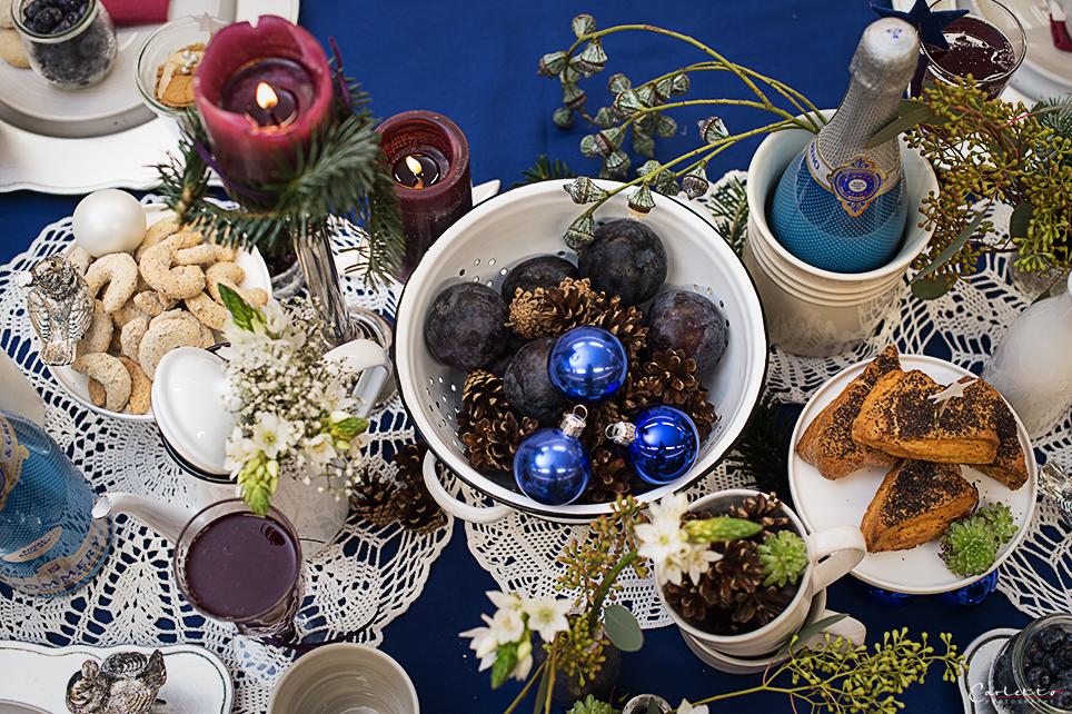 Weihnachtsdeko blau cookingcatrin - Weihnachtsdeko blau ...
