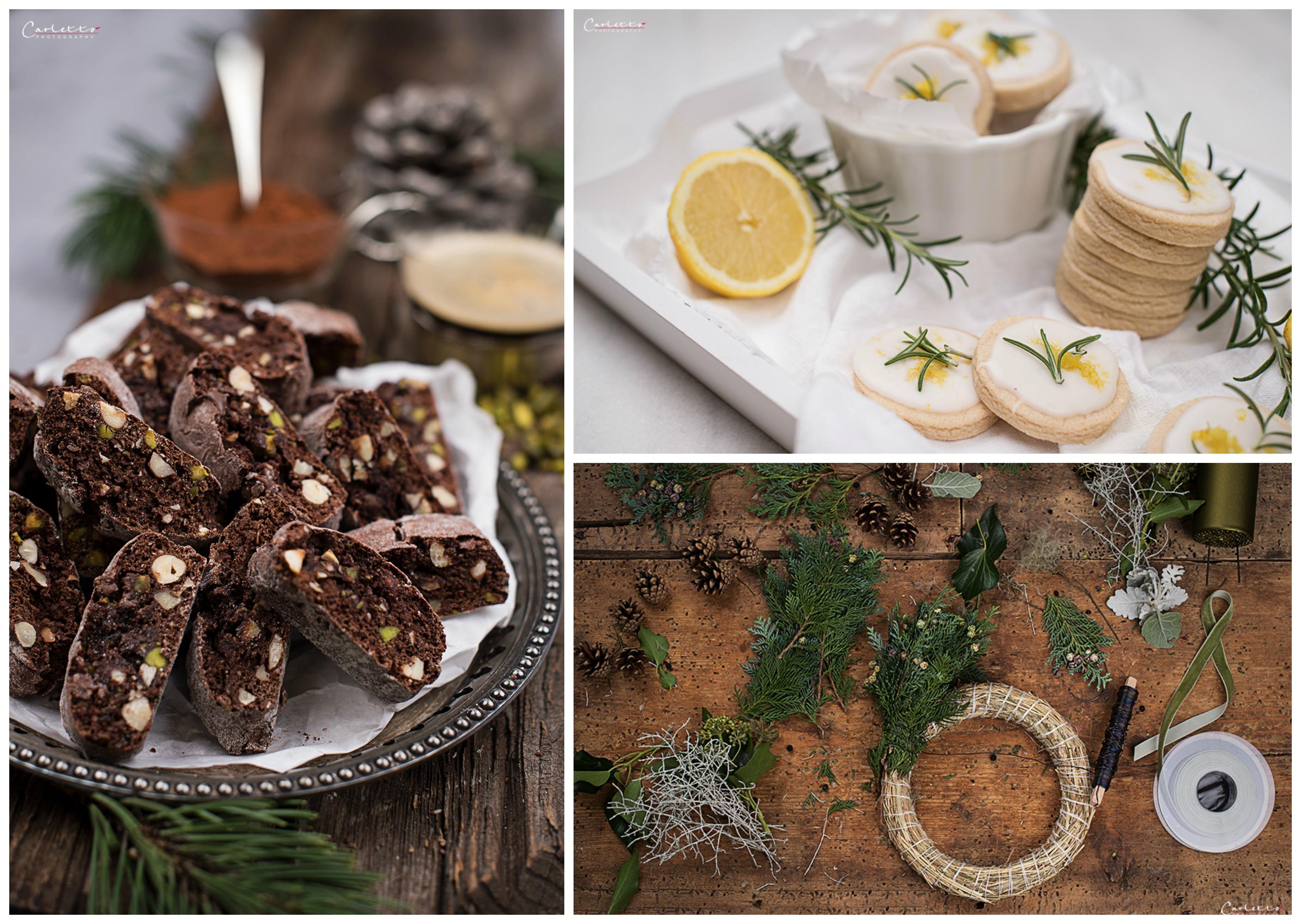Kekse backen Kränze binden. weihnachtlicher Workshop