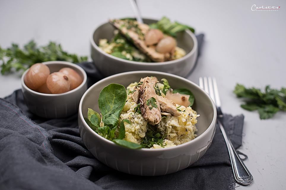 Kartoffelsalat mit Makrele
