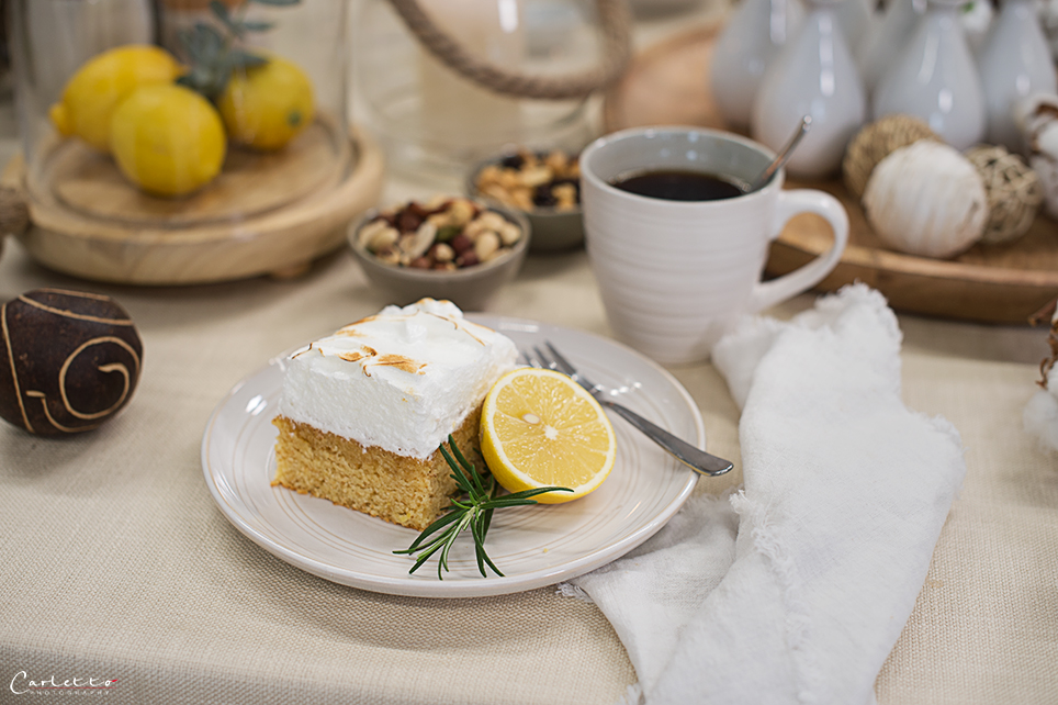 Zitronen Brösel Kuchen