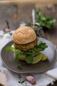 Garnelen Pesto Burger
