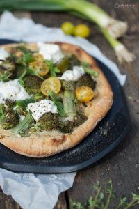 Pizza Bianca vom Grill