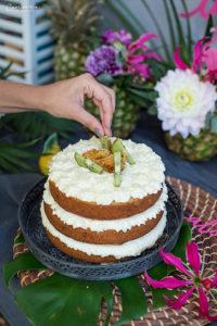 Tropische Pina Colada Torte