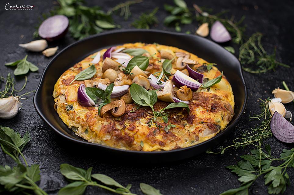 Kartoffel Gemüse Thunfisch Omelette