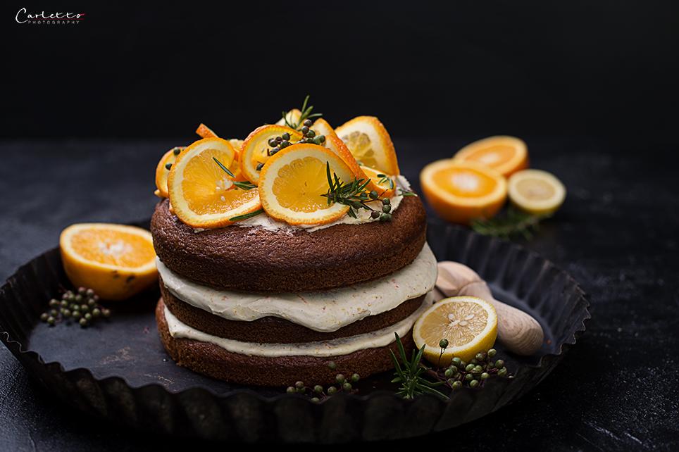 Orangentorte mit Orangen-Buttercreme