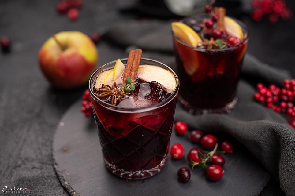 Rote Apfelmost Sangria