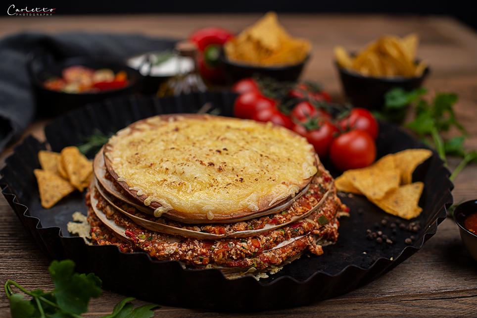 Veggie Tortilla Torte