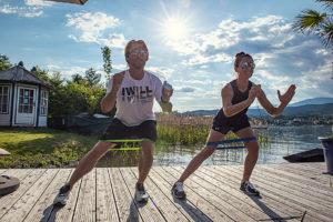 Sport und Brunch am See