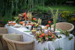 Herbstliche Gartenparty